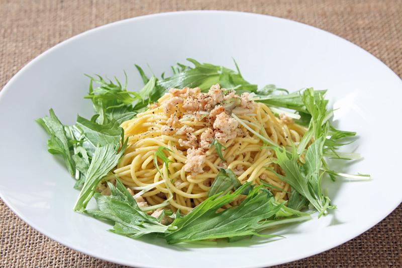 奥美濃古地鶏の和風パスタ スパゲッティ Spaghetti with Minched Chicken and Oil Sauce -Japanese Style-