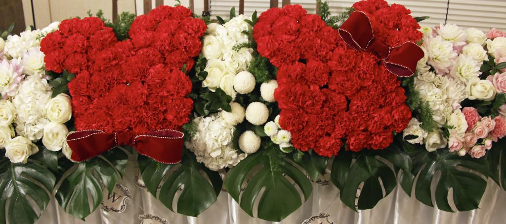 ウェディングメインテーブル装花