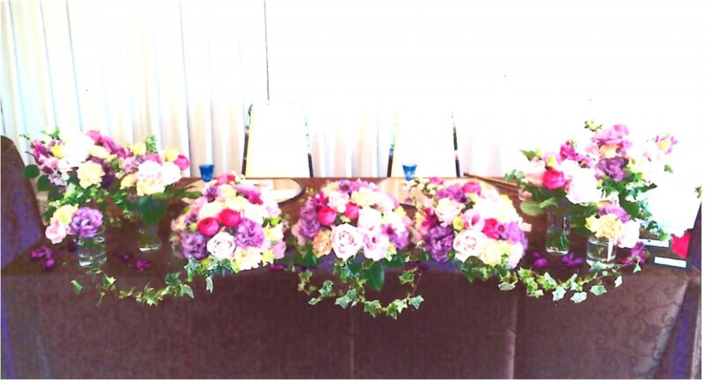 メインテーブル装花(高砂) 20,000円より